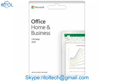 4GB RAM Microsoft Office Home And Business 2019 DVD Media English Khóa sản phẩm trực tuyến